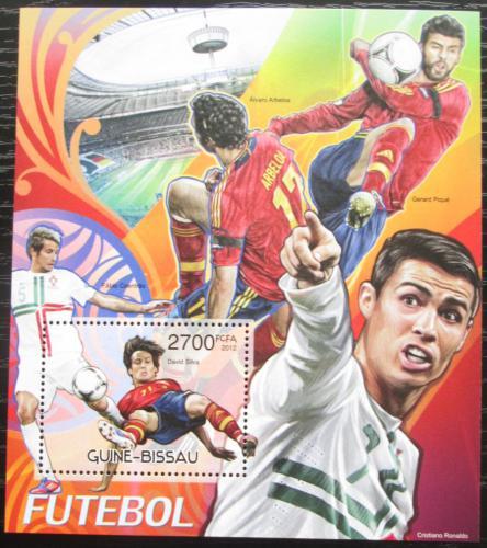 Poštovní známka Guinea-Bissau 2012 Slavní fotbalisti Mi# Block 1089 Kat 11€