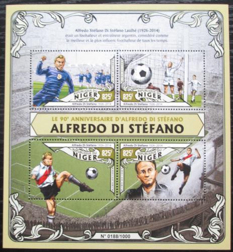 Poštovní známky Niger 2016 Alfredo Di Stéfano, fotbalista Mi# 4017-20 Kat 13€
