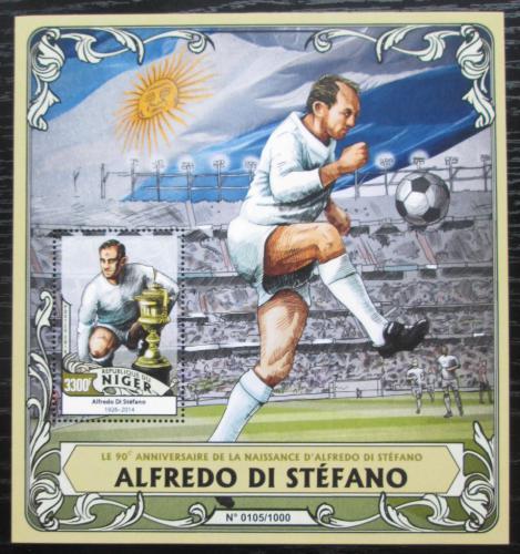 Poštovní známka Niger 2016 Alfredo Di Stéfano, fotbalista Mi# Block 508 Kat 13€