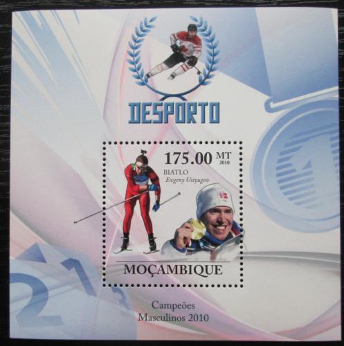Poštovní známka Mosambik 2010 Jevgenij Us�ugov, biatlon Mi# Block 329 Kat 10€