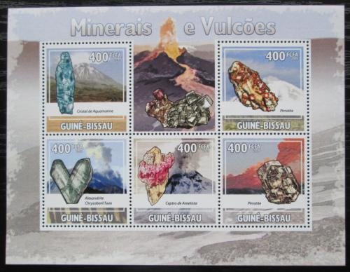 Poštovní známky Guinea-Bissau 2009 Minerály a sopky Mi# 4432-36 Kat 8€