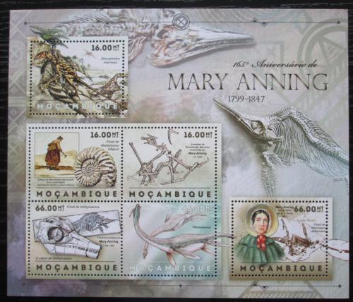 Poštovní známky Mosambik 2012 Mary Anning, paleontoložka Mi# 6083-88 Kat 14€
