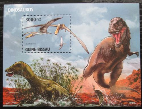 Poštovní známka Guinea-Bissau 2010 Dinosauøi Mi# Block 747 Kat 12€