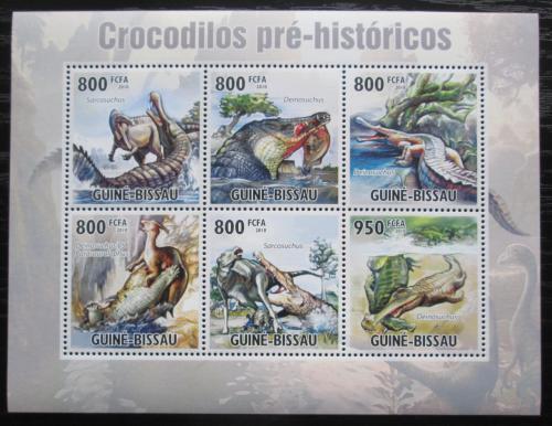 Poštovní známky Guinea-Bissau 2010 Prehistoriètí krokodýli Mi# 5210-15 Kat 20€