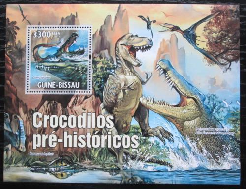 Poštovní známka Guinea-Bissau 2010 Prehistoriètí krokodýli Mi# Block 894 Kat 13€