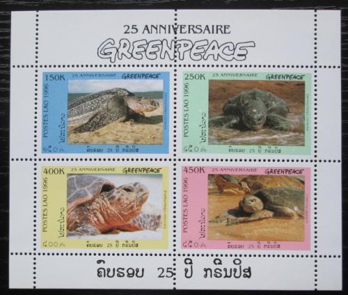 Poštovní známky Laos 1996 Moøské želvy Mi# 1547-50 Bogen Kat 8€