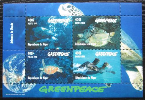 Poštovní známky Niger 1998 Moøské želvy Mi# 1472-75 Bogen Kat 20€