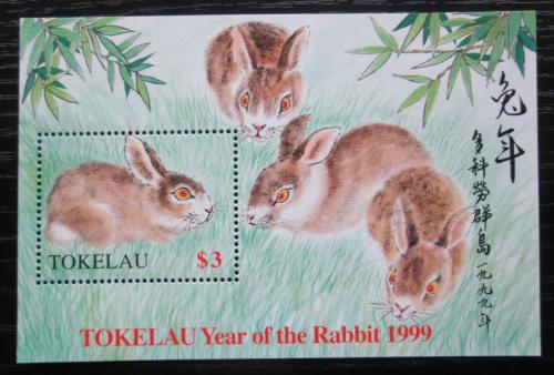 Poštovní známka Tokelau 1999 Èínský nový rok, rok zajíce Mi# Block 16