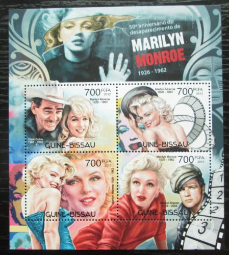 Poštovní známky Guinea-Bissau 2012 Marilyn Monroe Mi# 6092-95 Kat 11€