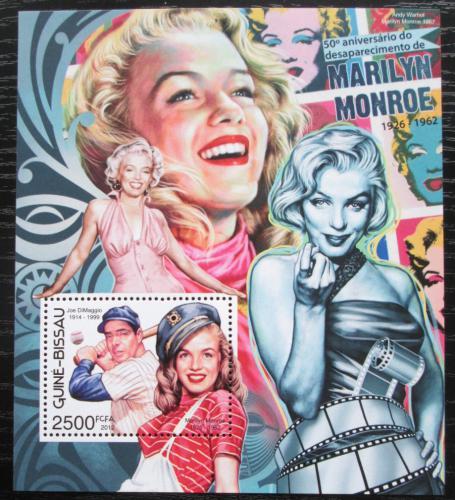 Poštovní známka Guinea-Bissau 2012 Marilyn Monroe Mi# Block 1081 Kat 10€