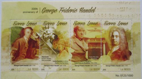 Poštovní známky Sierra Leone 2015 Georg Friedrich Händel Mi# 6617-20 Kat 11€