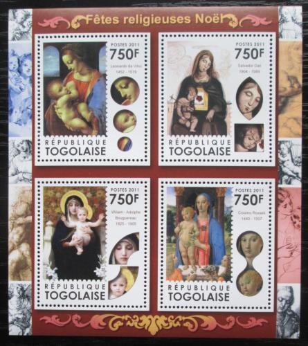 Poštovní známky Togo 2011 Vánoce, umìní, Panna Marie Mi# 4074-77 Kat 12€