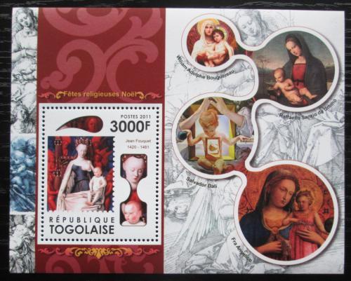 Poštovní známka Togo 2011 Vánoce, umìní, Panna Marie Mi# Block 625 Kat 12€