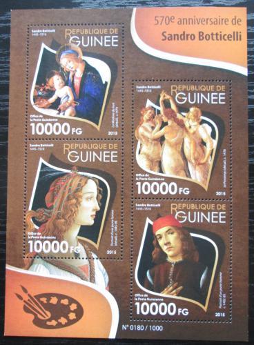 Poštovní známky Guinea 2015 Umìní, Sandro Botticelli Mi# 11483-86 Kat 16€