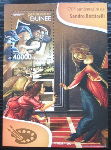 Poštovní známka Guinea 2015 Umìní, Sandro Botticelli Mi# Block 2593 Kat 16€