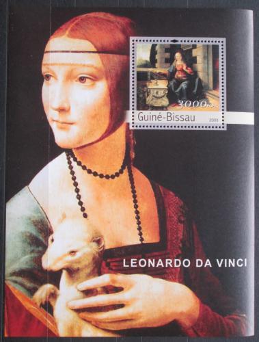 Poštovní známka Guinea-Bissau 2003 Umìní, Leonardo da Vinci Mi# Block 436 Kat 12€