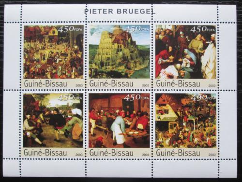 Poštovní známky Guinea-Bissau 2003 Umìní, Pieter Bruege Mi# 2537-42 Kat 10€