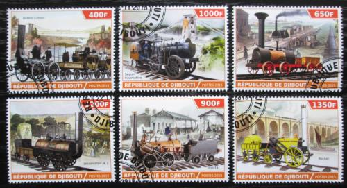 Poštovní známky Džibutsko 2015 Historické parní lokomotivy Mi# N/N