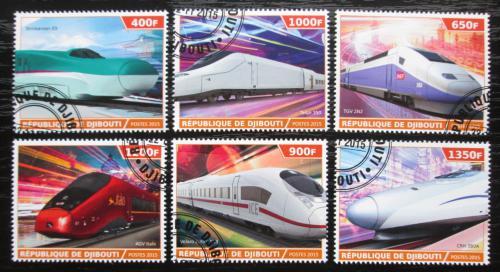 Poštovní známky Džibutsko 2015 Moderní lokomotivy Mi# N/N