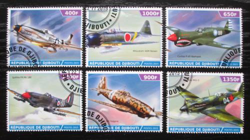 Poštovní známky Džibutsko 2015 Váleèná letadla Mi# N/N