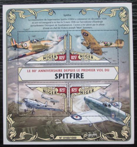 Poštovní známky Niger 2016 Stíhaèky Spitfire Mi# 4027-30 Kat 13€
