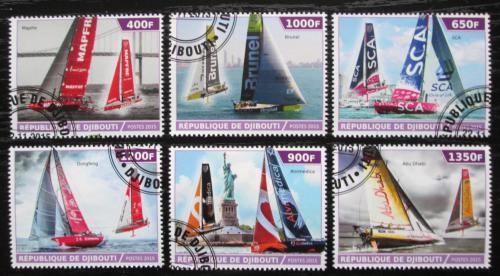 Poštovní známky Džibutsko 2015 Moderní plachetnice Mi# N/N