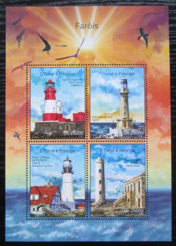 Poštovní známky Svatý Tomáš 2014 Majáky Mi# 5619-22 Kat 10€