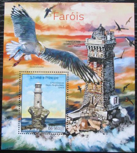 Poštovní známka Svatý Tomáš 2014 Majáky Mi# Block 983 Kat 10€
