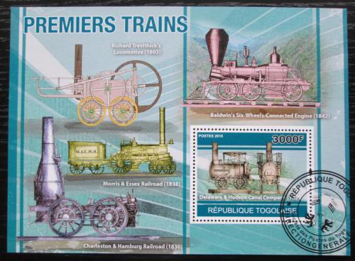 Poštovní známka Togo 2010 Historické parní lokomotivy Mi# Block 562 Kat 12€