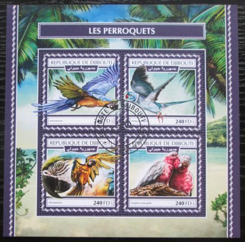 Poštovní známky Džibutsko 2017 Papoušci Mi# N/N