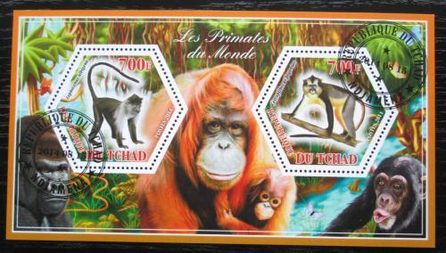 Poštovní známky Èad 2014 Opice Mi# N/N