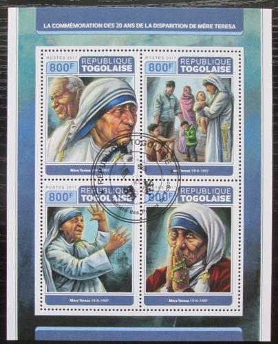 Poštovní známky Togo 2017 Matka Tereza Mi# 8269-72 Kat 13€
