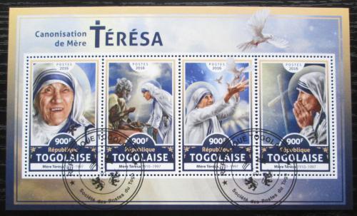 Poštovní známky Togo 2016 Matka Tereza Mi# 7919-22 Kat 14€