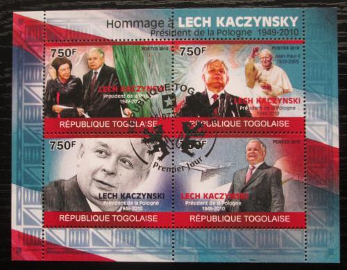 Poštovní známky Togo 2010 Prezident Lech Kaczyòski Mi# 3544-47 Kat 12€