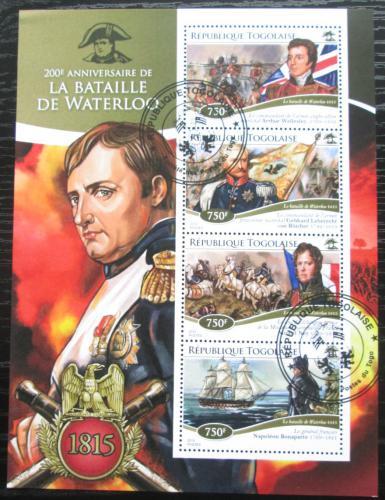 Poštovní známky Togo 2015 Bitva u Waterloo, Napoleon Mi# 6564-67 Kat 12€