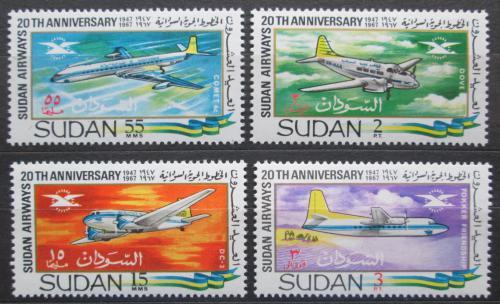 Poštovní známky Súdán 1968 Letadla Mi# 251-54