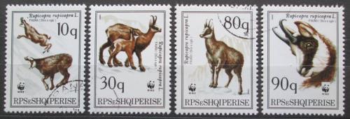 Poštovní známky Albánie 1990 Kamzík horský, WWF Mi# 2423-26 Kat 6€