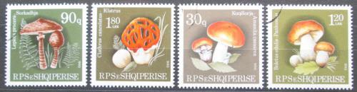 Poštovní známky Albánie 1990 Houby Mi# 2431-34 Kat 3.50€