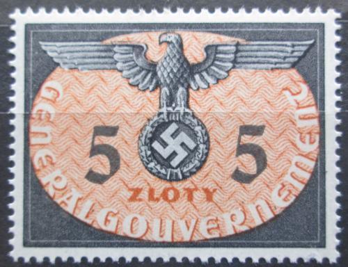 Poštovní známka Polsko 1940 Orlice, okupaèní, úøední Mi# 15 Kat 7€