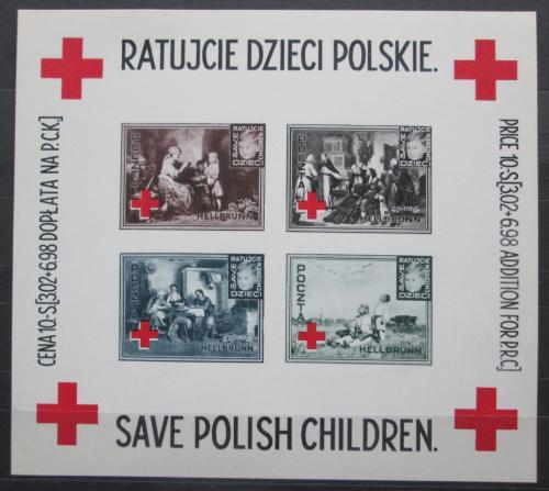 Poštovní známky Polsko 1946 Èervený køíž, charitativní VELMI VZÁCNÉ