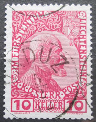 Poštovní známka Lichtenštejnsko 1915 Kníže Jan II. Mi# 2 y Kat 40€