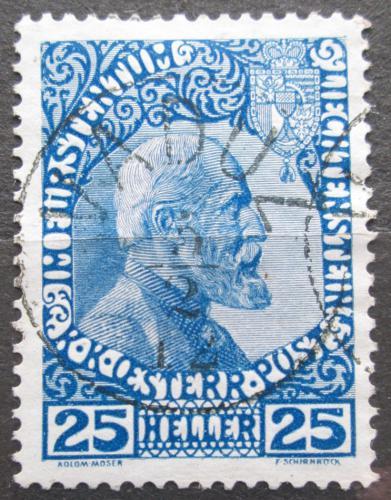 Poštovní známka Lichtenštejnsko 1915 Kníže Jan II. RARITA Mi# 3 y Kat 250€