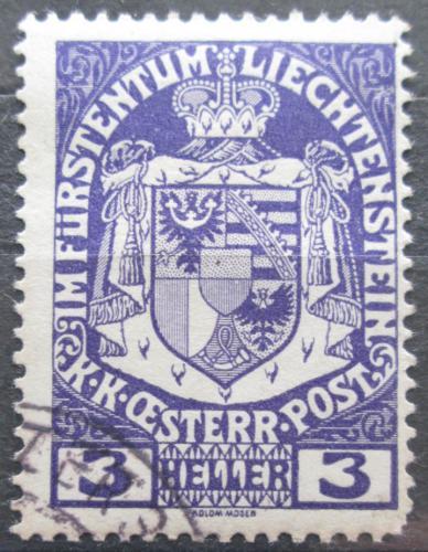 Poštovní známka Lichtenštejnsko 1917 Znak knížectví Mi# 4