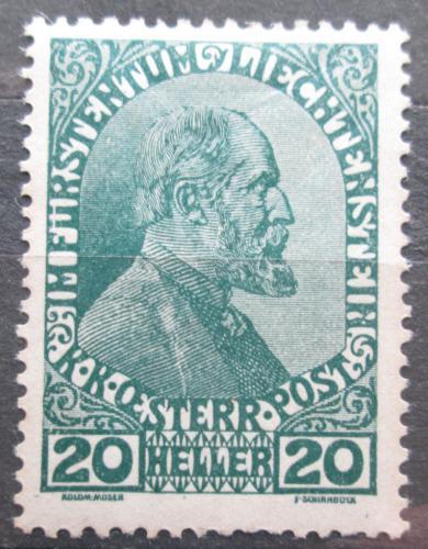 Poštovní známka Lichtenštejnsko 1919 Kníže Jan II. Mi# 8