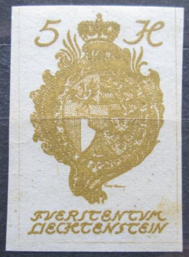 Poštovní známka Lichtenštejnsko 1920 Znak knížectví Mi# 17