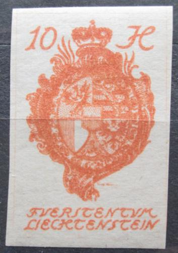 Poštovní známka Lichtenštejnsko 1920 Znak knížectví Mi# 18
