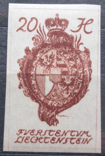 Poštovní známka Lichtenštejnsko 1920 Znak knížectví Mi# 20