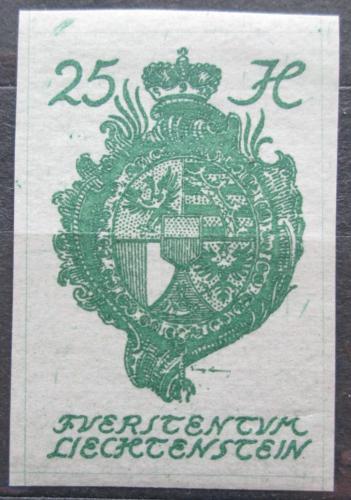 Poštovní známka Lichtenštejnsko 1920 Znak knížectví Mi# 21