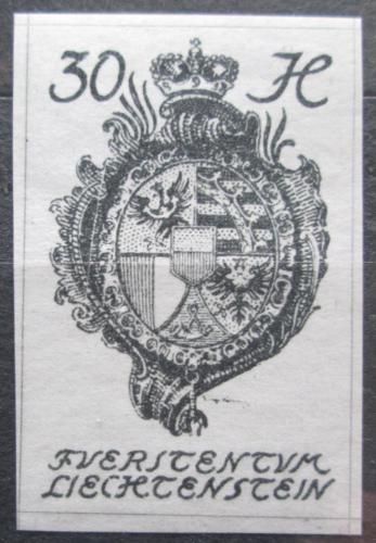 Poštovní známka Lichtenštejnsko 1920 Znak knížectví Mi# 22