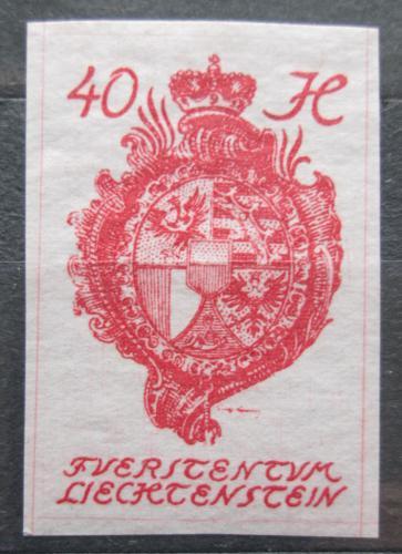 Poštovní známka Lichtenštejnsko 1920 Znak knížectví Mi# 23
